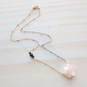 Jewelry - e.o. necklace lava rock aurora crystals